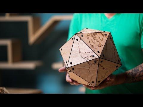 Making a Large Laser-Cut Dymaxion Globe!