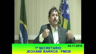 Jeovane Barros Pronunciamento 04 11 16