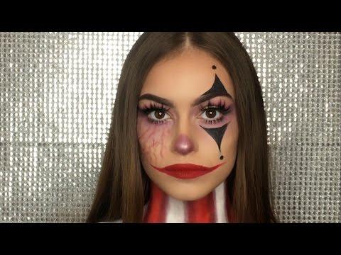 Clown Halloween Makeup Tutorial | Alejandraxoxx