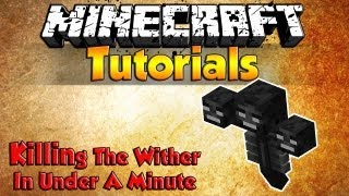 Easiest Way To Kill The Wither (Minecraft 1.7.10) *Quickest Way*