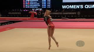 SMIRNOVA Mariia (AZE) - 2015 Artistic Worlds - Qualifications Floor Exercise