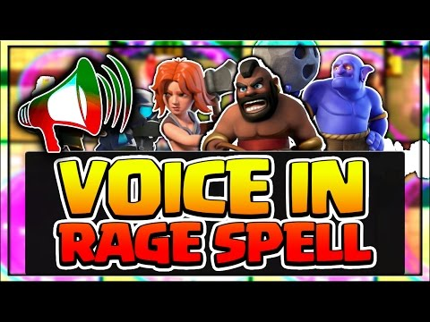 TOP 10 FUNNY VOICE OF CARDS IN RAGE SPELL || CLASH ROYALE RAGE SPELL FUNNY VOICES!