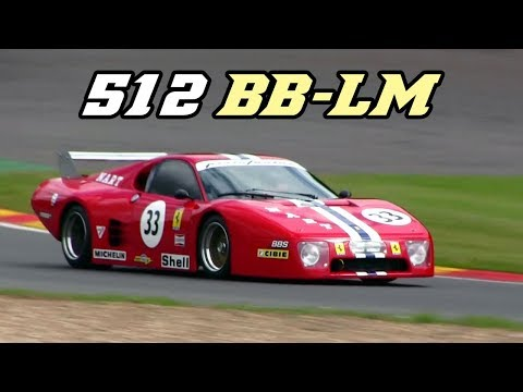 Ferrari 512 BB LM - V12 rumble (fly-by & idle)