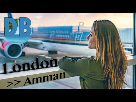 Royal Jordanian Airline flight - London to Amman