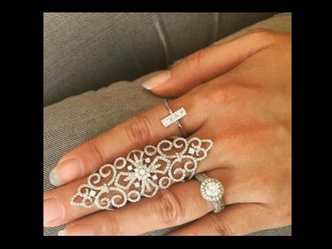 Gold Long Finger Ring