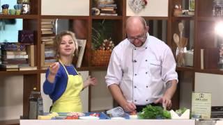 Утренний эфир / Будет вкусно: салат с чипсами, помидорами и крабовыми палочками
