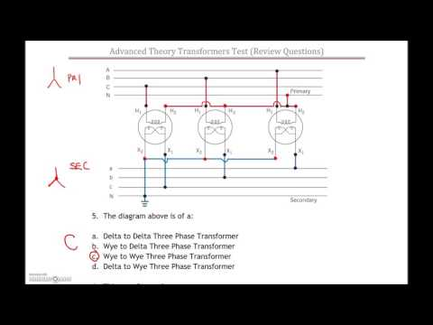 3 Phase Transformer Test #2 Review (Part 1)