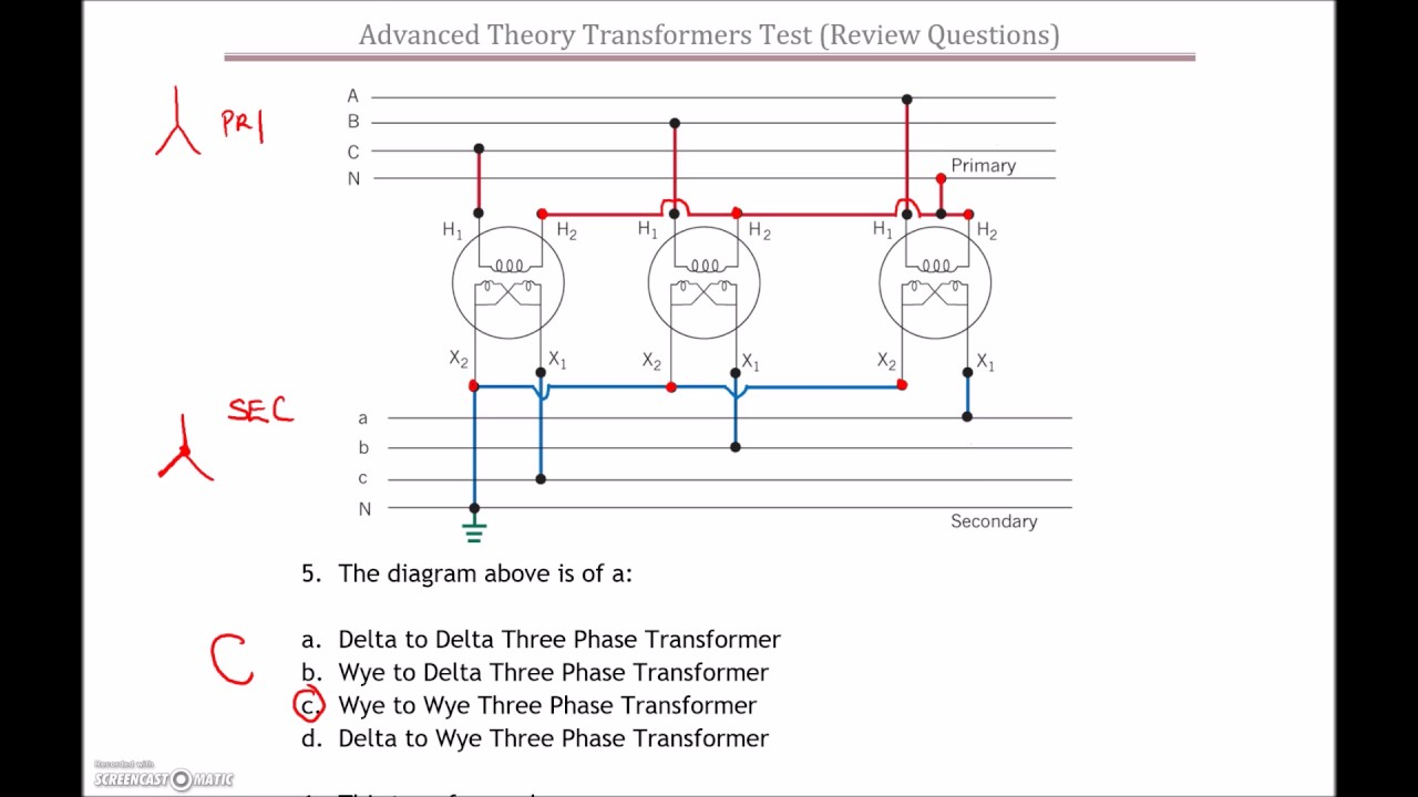 hight resolution of 3 phase transformer test 2 review part 1