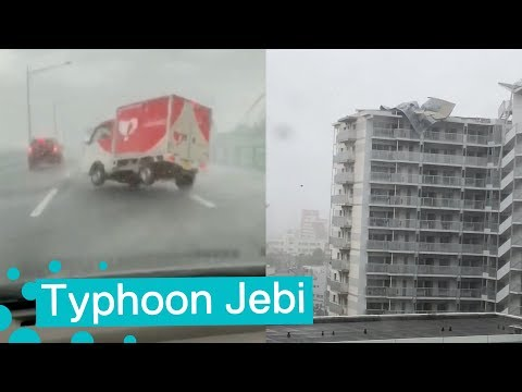 Typhoon Jebi Hits Japan 2018 - An Eyewitness Account 😮