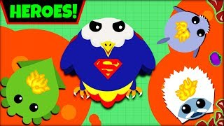 MOPE.IO HEROES *SUPERMAN* | SAVING EVERYONE IN MOPE.IO | MOPE.IO NEW ANIMALS(mope.io update)