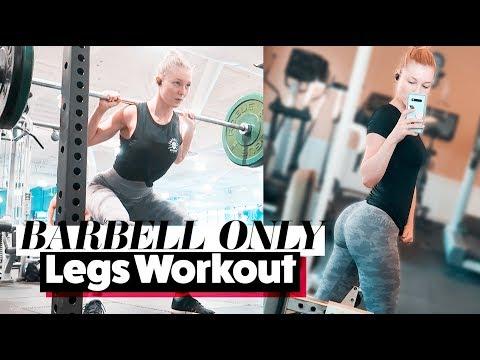 BARBELL ONLY LEGS WORKOUT | STPeach