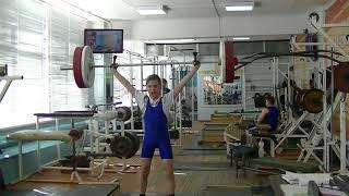 Ксенофонтов Матвей, 13 лет, вк 34 Рывок +Присед 32 кг на 2 раза
