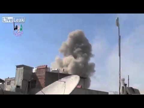 SyAF MiG || Rocket attack hits militant positions in Douma