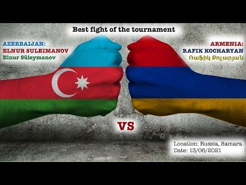 Лучший бой турнира: Азербайджанец Сулейманов Эльнур VS Армянина Рафика Кочаряна