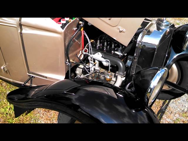 1934 American Austin car. Engine view