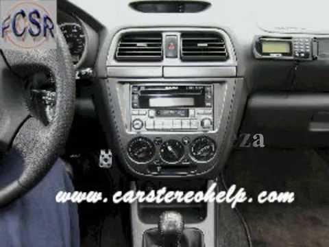 subaru impreza car stereo removal youtube