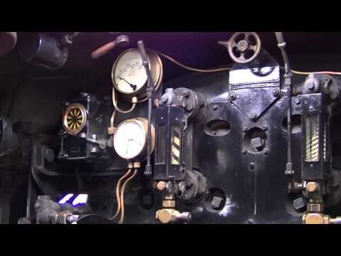 The cab of 70013 'Oliver Cromwell'