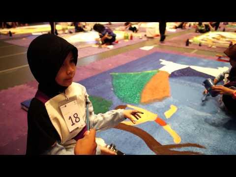 """การแข่งขันวาดภาพระบายสี ระดับประถมศึกษา โครงการ """"กล้าใหม่...ใฝ่รู้"""" ปี 9"""