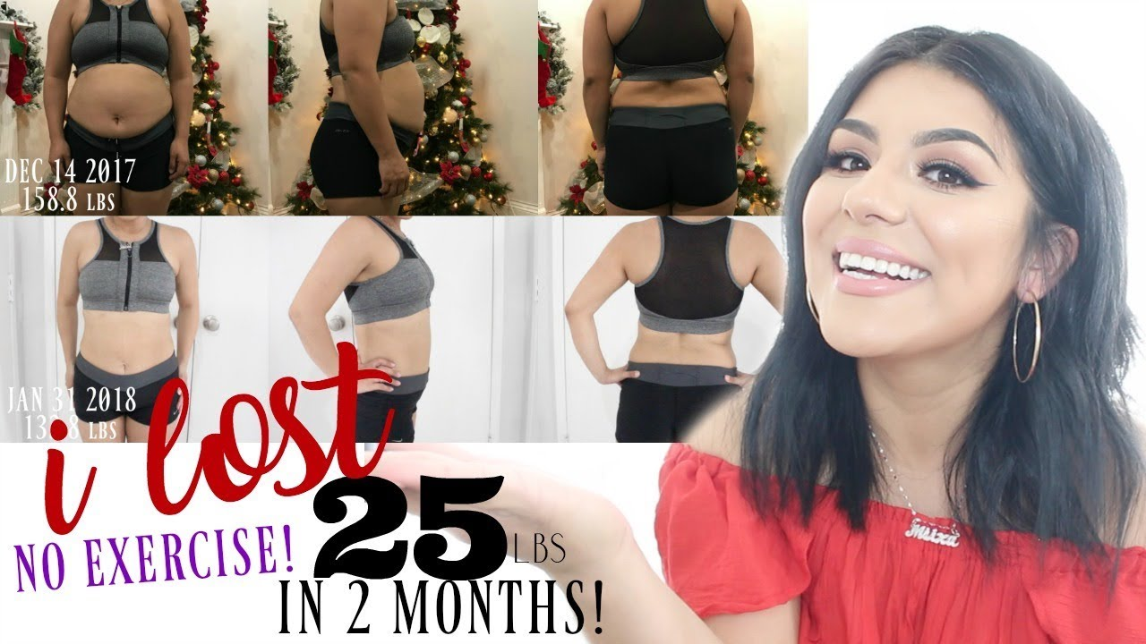 How I Lost 25 lbs in 2 Months! NO EXERCISE!