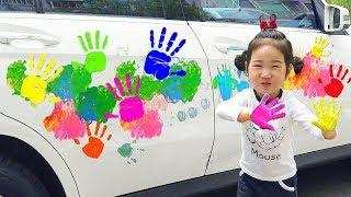 BORAM Jouez aux palmes de couleurs sur les voitures des jouets colorés