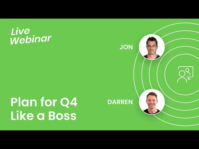 Plan for Q4 Like a Boss! Webinar for Amazon Sellers #AmazonFBA