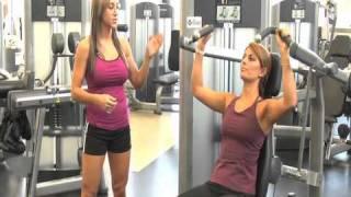 How to do a Shoulder Press using Life Fitness Equipment