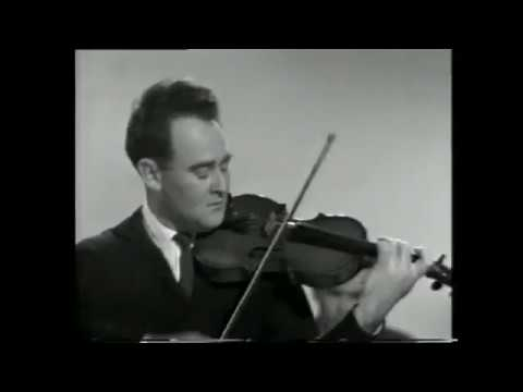 Desmond Bradley plays excerpts from the Elgar Violin Concerto with Geoffrey Parsons in accompaniment