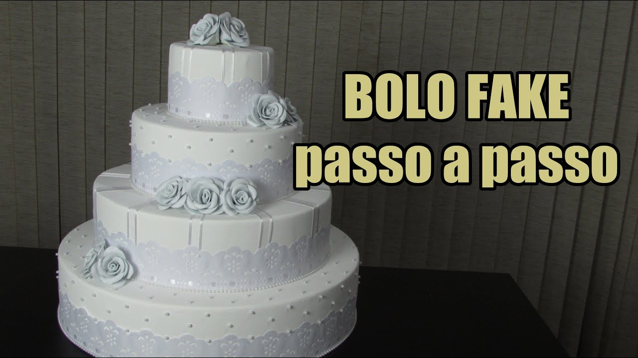 Preferência Bolo Fake para casamento - YouTube RZ73