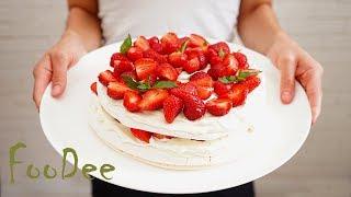 Торт-безе Анна Павлова ☆ С клубникой и взбитыми сливками ☆ Pavlova Cake