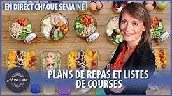 Webinaire diététique en direct avec Sybille Montignac : Les plans de repas et les listes de courses