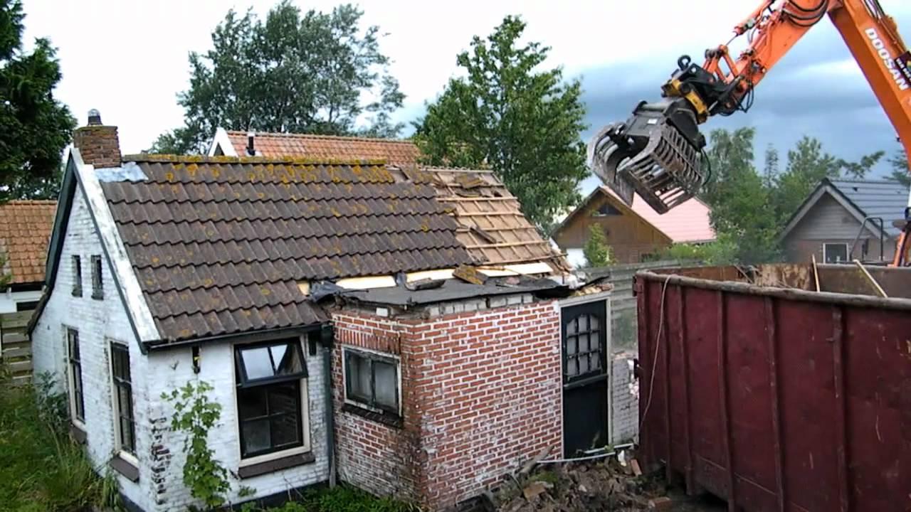 Huis slopen readtsjerk juli 2012 youtube - Huisje met vide ...