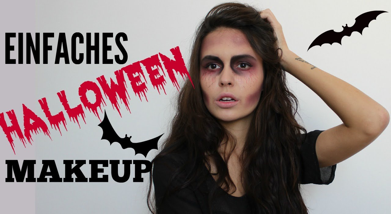 einfaches schnelles halloween makeup youtube. Black Bedroom Furniture Sets. Home Design Ideas