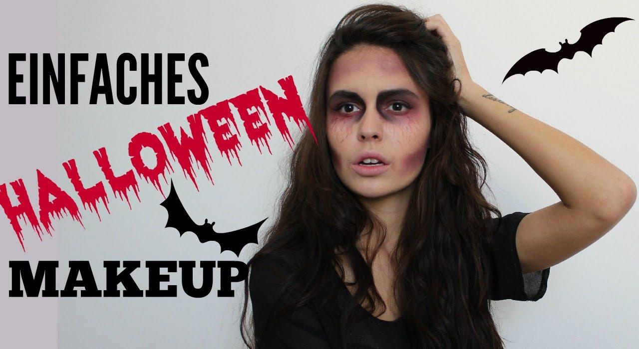 Einfaches Schnelles Halloween Makeup Youtube