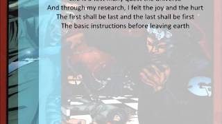 Killah Priest - GZA - B.I.B.L.E. Basic Instructions Before Leaving Earth - Lyrics