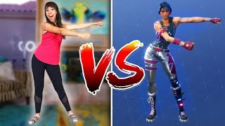 FORTNITE DANCE CHALLENGE IN REAL LIFE!! | Theskorys