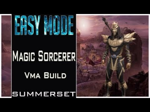 Magic Sorcerer (Easy Mode) Veteran Maelstrom Arena Build 'Summerset ESO Pve Dps
