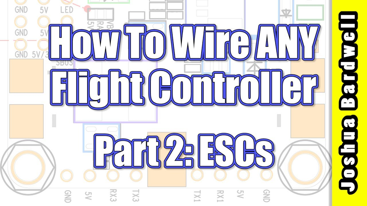 quadcopter wiring diagram manual flight controller wiring for beginners part 2 escs youtube  flight controller wiring for beginners