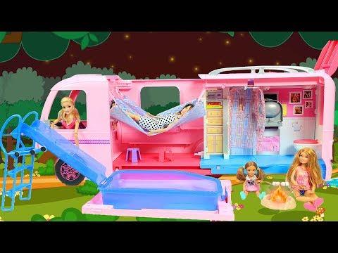 Barbie Karavanı   Yeni Barbie Oyuncak Videoları   Evcilik TV
