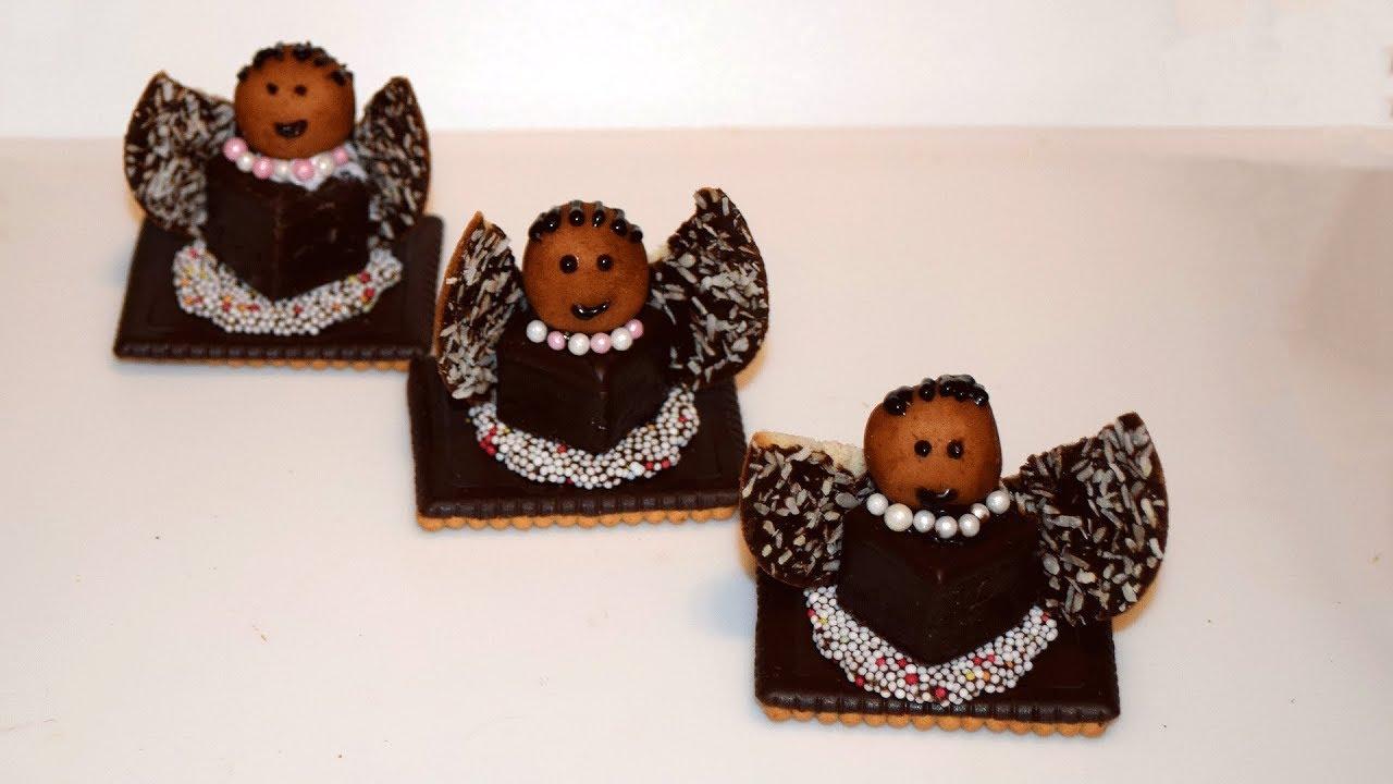 Weihnachtsbasteln Mit Süßigkeiten.Engel Aus Süßigkeiten Basteln