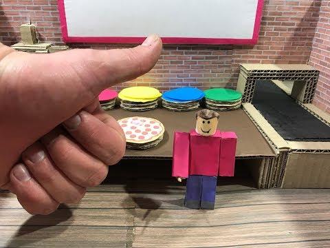 Roblox. Pizza. Cardboard game. DIY
