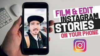 How to Make COOL INSTAGRAM STORIES on just your phone