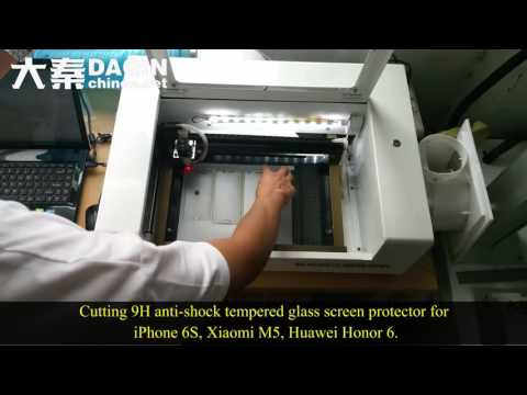 India smart mobile tempered glass screen protector cutting machine - small business at home