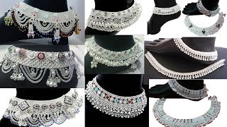 Latest silver anklets designs | Bridal anklets designs 2019 |silver payal designs