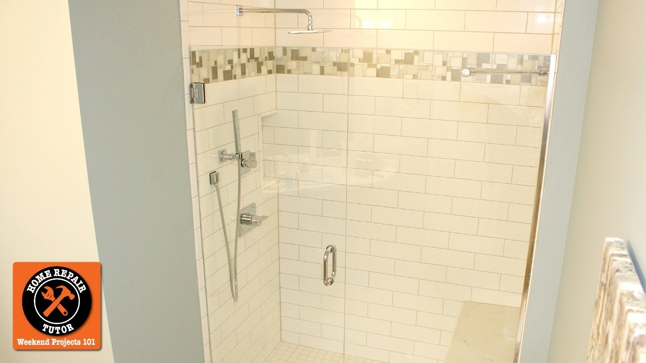 13 Tile Tips For Better Bathroom Tile: How To Build A Subway Tile Walk-In Shower...Quick Tips