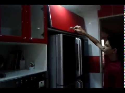 cuisine b226tie habillage en portes moderne beigenoir youtube