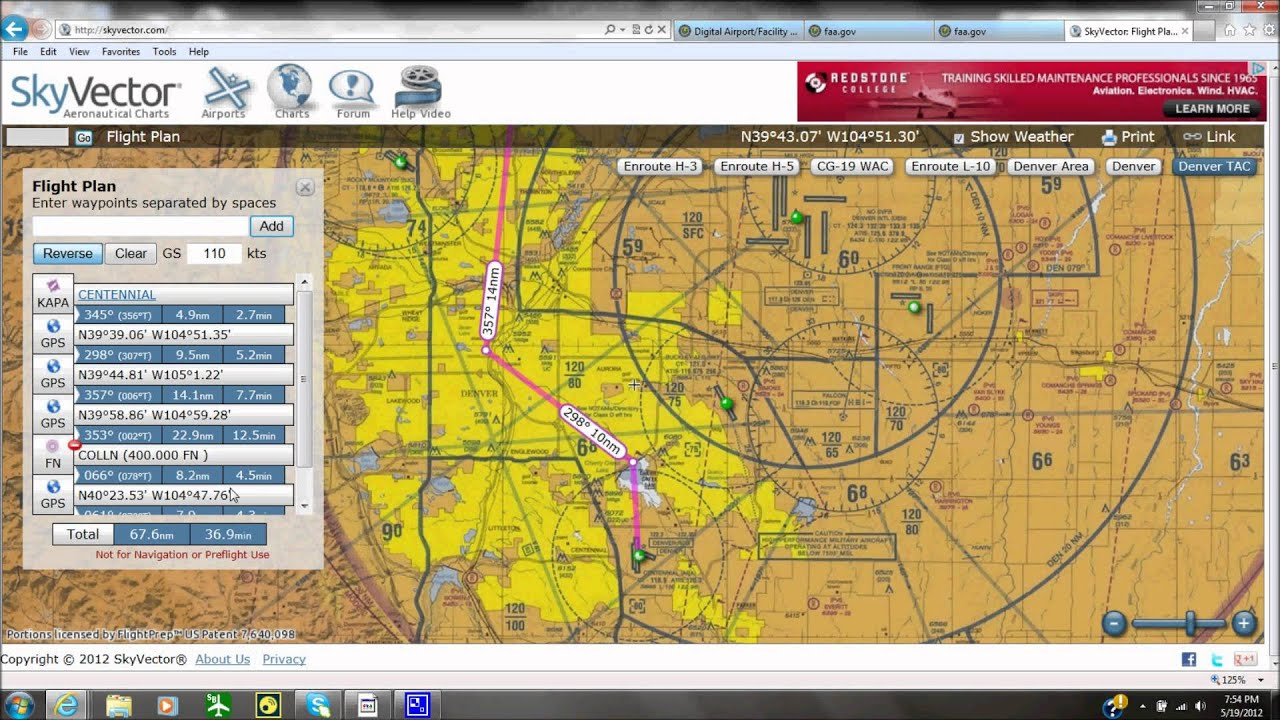 Skyvector flight vfr planning - Skyvector Flight Vfr Planning 2
