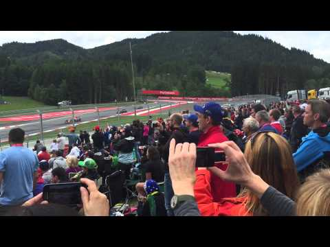 Start of the 2015 Austrian F1 Grand Prix at Red Bull Ring
