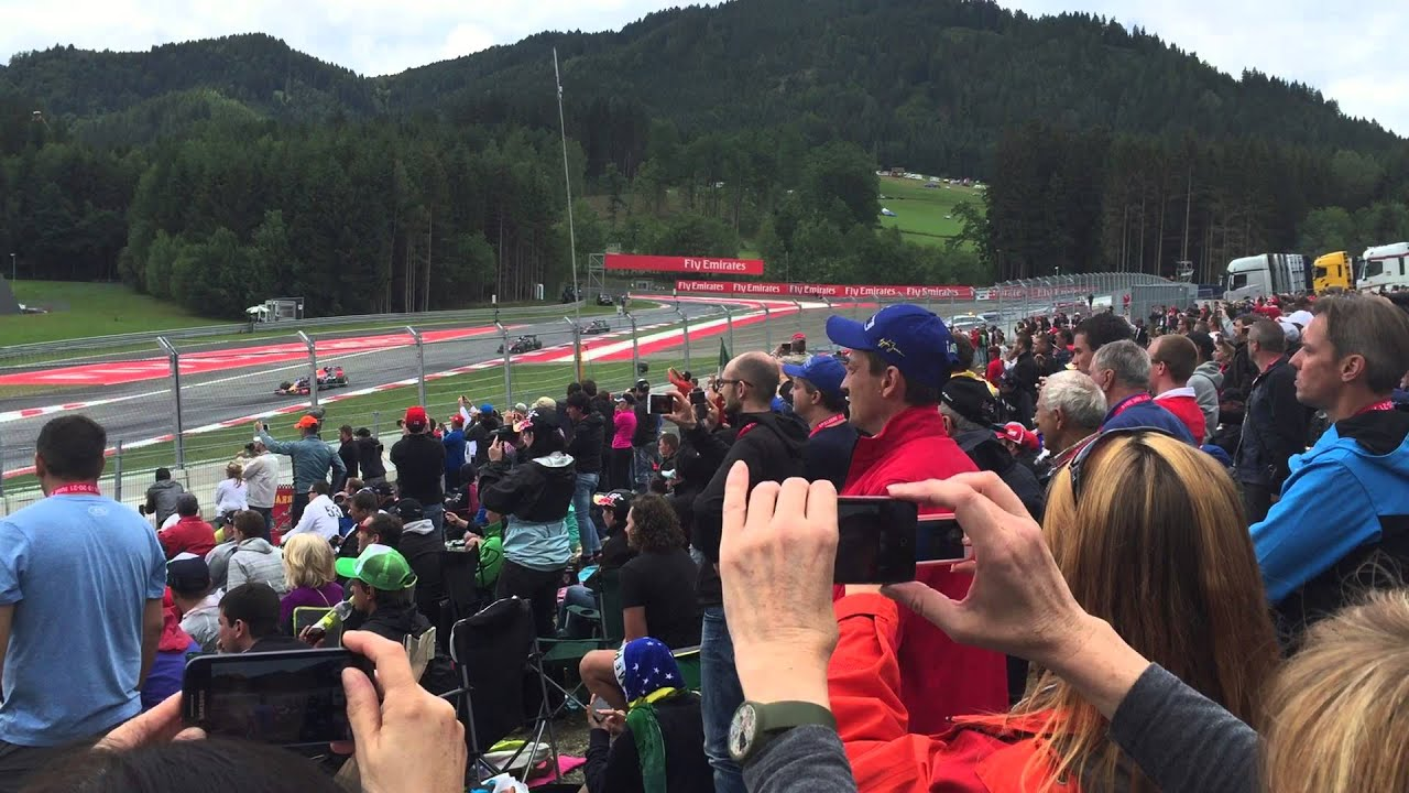 start of the 2015 austrian f1 grand prix at red bull ring youtube. Black Bedroom Furniture Sets. Home Design Ideas