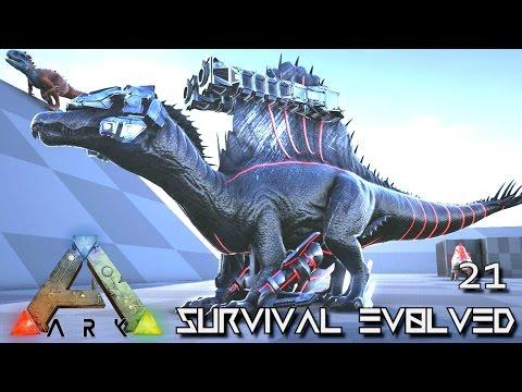 ARK: SURVIVAL EVOLVED - NEW TEK SPINO IGUANADON & LEEDSICHTHYS TAME !!! E21 (ARK PUGNACIA DINOS)