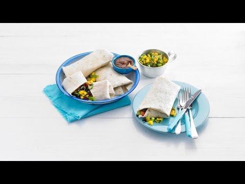 Burrito met bonen-groentechili en mole – Allerhande